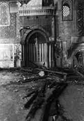 Minbar Nuruddin/Salahuddin selepas dibakar pada tahun 1969