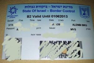 Visa atau Pas Lawatan Sempadan Untuk Masuk ke Al-Aqsa